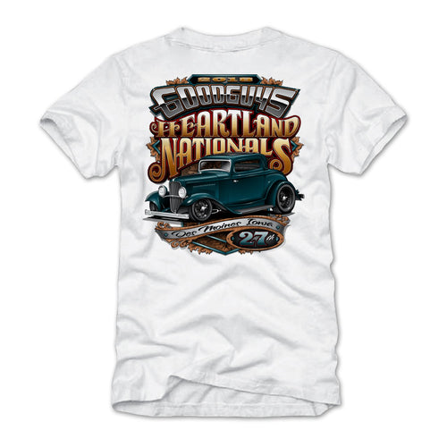 2018 heartland nationals des moines white T-shirt - front