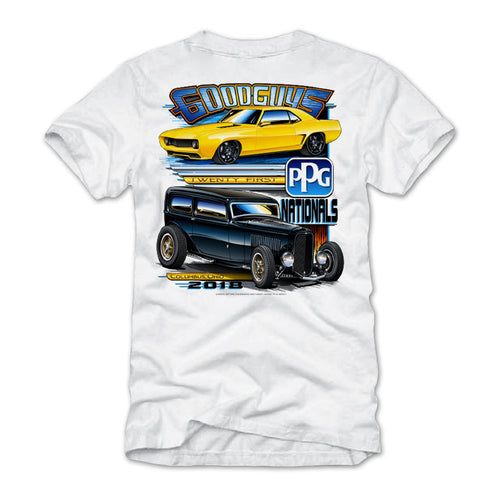 21st PPG Nationals 2018 White Event Exclusive T-Shirt Goodguys