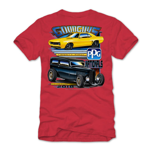 21st PPG Nationals 2018 Red Event Exclusive T-Shirt Goodguys