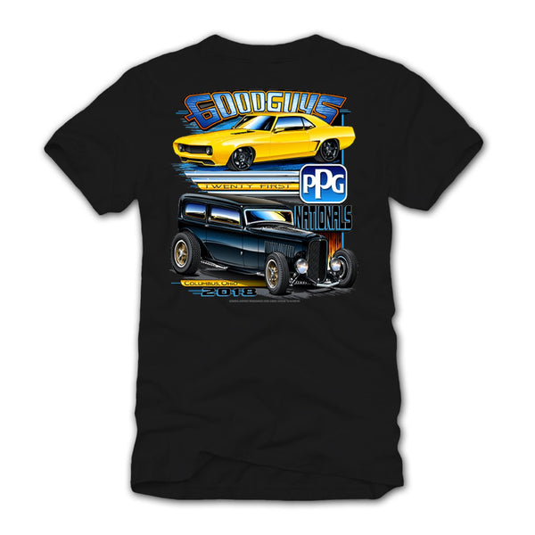 21st PPG Nationals 2018 White Event Exclusive Henley Shirt Goodguys