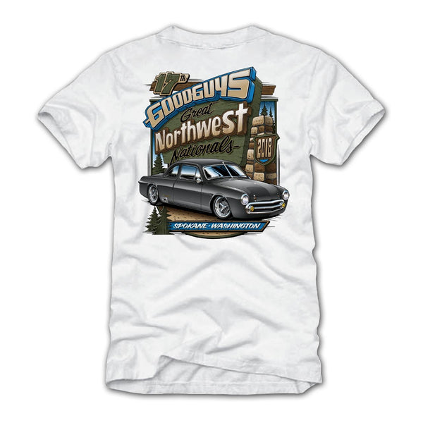 17th Great Northwest Nationals 2018 White Event Exclusive T-Shirt Goodguys