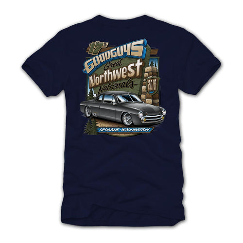 2018 great northwest nationals spokane navy blue T-shirt - front