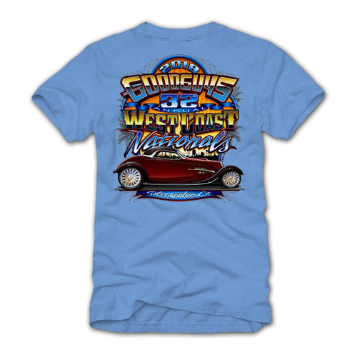 2018 west coast nationals pleasanton blue T-shirt - front
