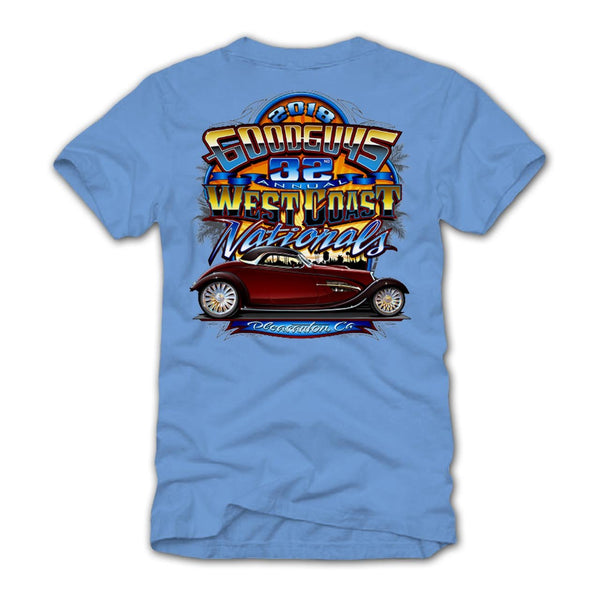 32nd West Coast Nationals 2018 Blue Event Exclusive T-Shirt