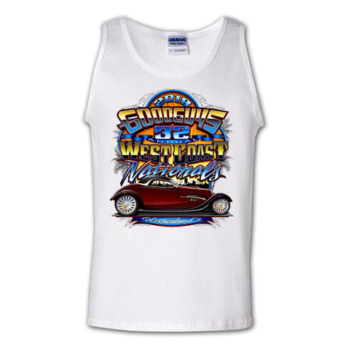 2018 west coast nationals pleasanton men's tank top - front