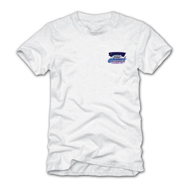 goodguys fall 2018 colorado nationals loveland white t-shirt - back