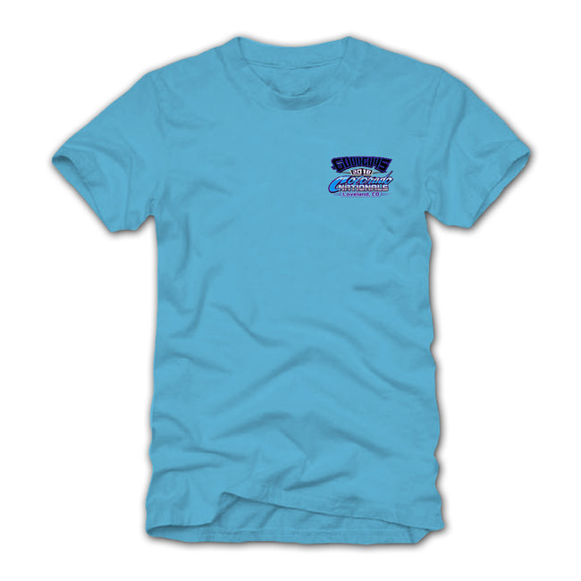 goodguys fall 2018 colorado nationals loveland blue t-shirt - back