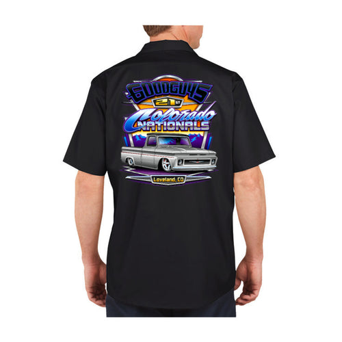 goodguys fall 2018 colorado nationals loveland men's button-down shirt - front