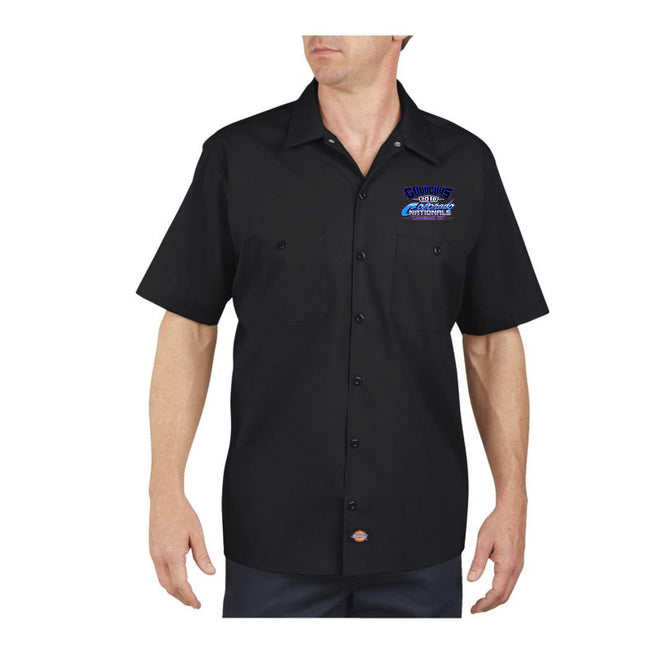 goodguys fall 2018 colorado nationals loveland men's button-down shirt - back