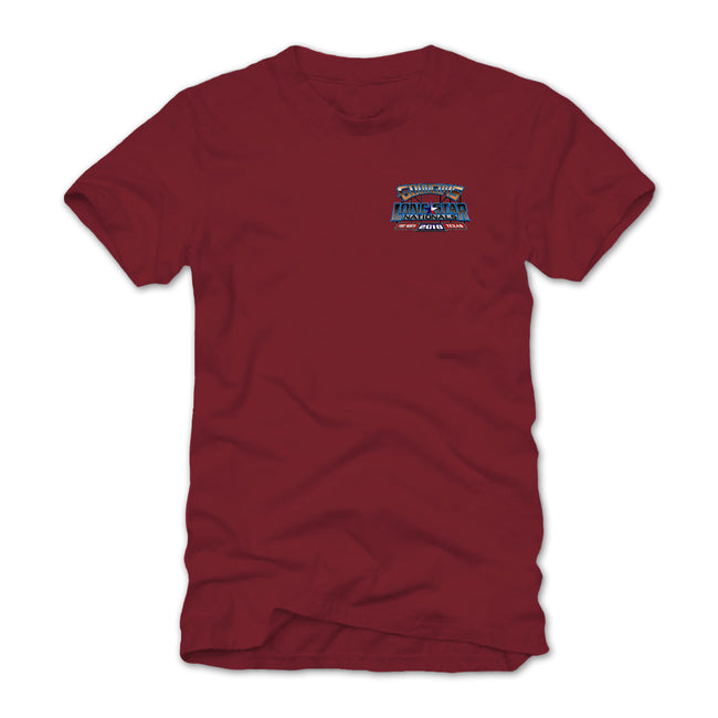 goodguys fall 2018 lone star nationals fort worth red t-shirt - back