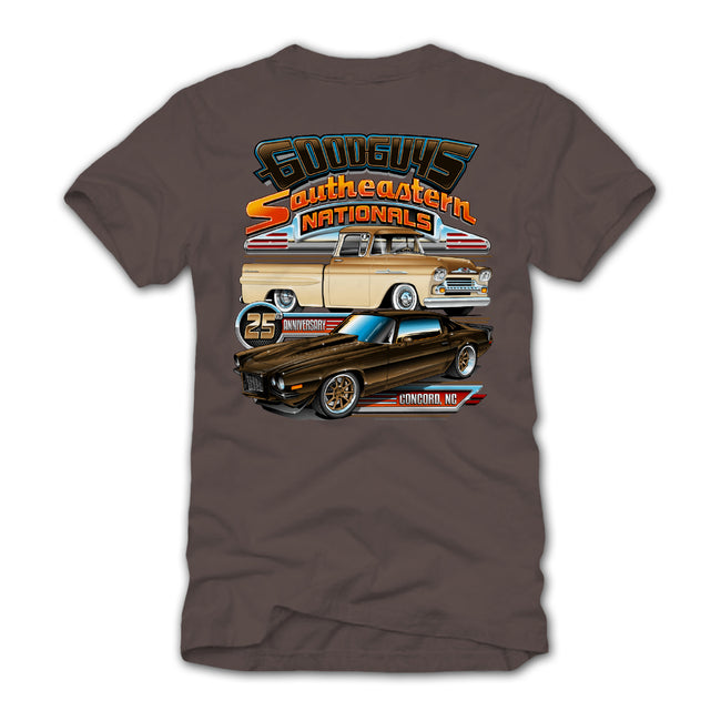 goodguys fall 2018 southeastern nationals concord blue t-shirt - back