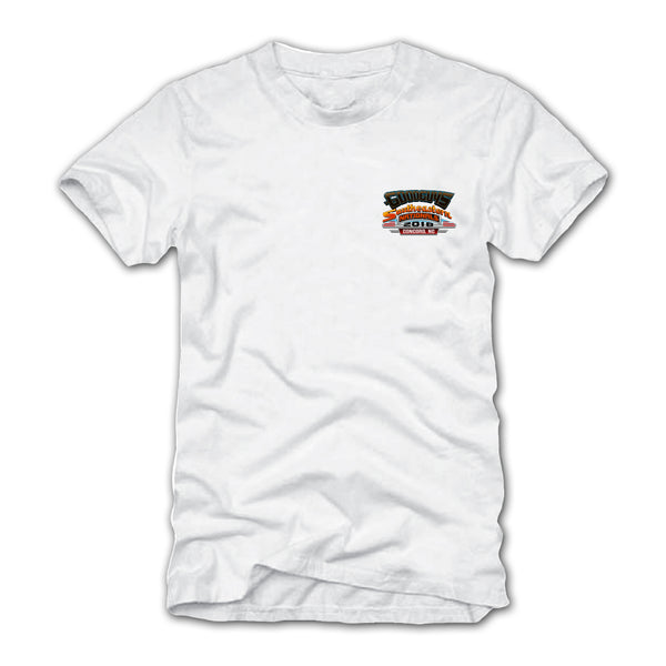 goodguys fall 2018 southeastern nationals concord white t-shirt - back