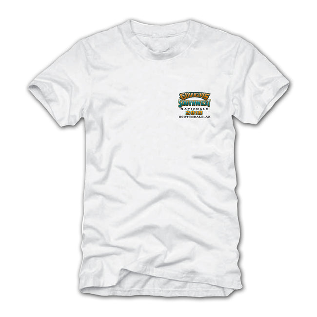 goodguys fall 2018 southwest nationals scottsdale white t-shirt - back