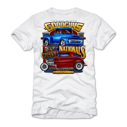 2018 east coast nationals rhinebeck white T-shirt - front
