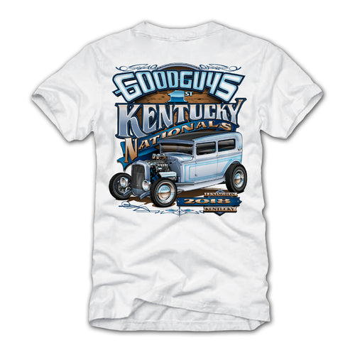 goodguys fall 2018 kentucky nationals lexington white t-shirt - front