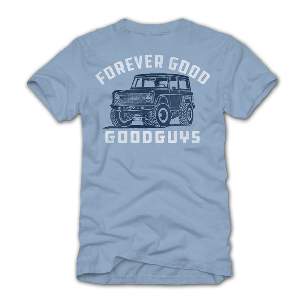 Goodguys Men's Good Bronco Blue T-Shirt - Back