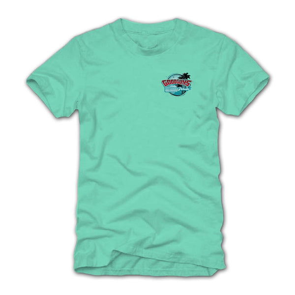 Goodguys Mens Wheels and Waves Mint Tee - Front