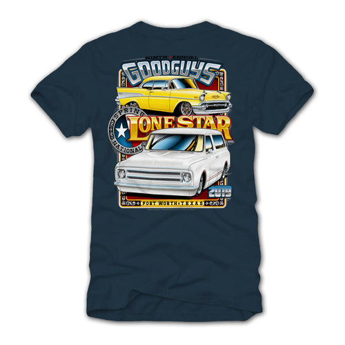 2019 SPRING LONE STAR FORT WORTH BLUE EVENT EXCLUSIVE T-SHIRT-Event Exclusives-Shop Goodguys