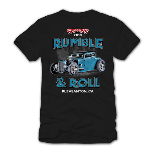 2019 ALL AMERICAN GET TOGETHER RUMBLE AND ROLL T-SHIRT-Event Exclusives-Shop Goodguys