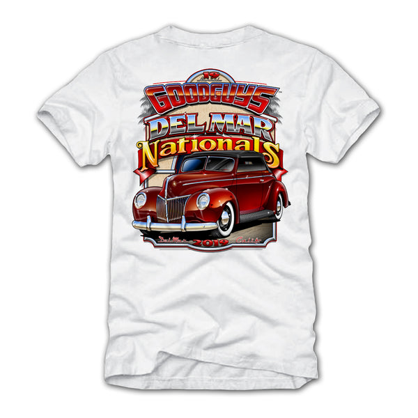 2019 DEL MAR WHITE EVENT EXCLUSIVE T-SHIRT-Event Exclusives-Shop Goodguys