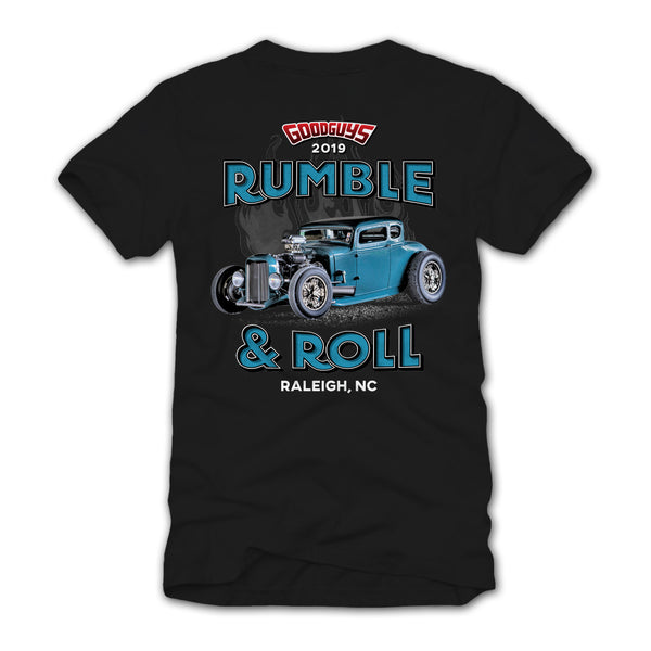 2019 NORTH CAROLINA NATIONALS RUMBLE AND ROLL T-SHIRT-Event Exclusives-Shop Goodguys