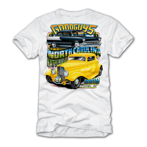 2019 NORTH CAROLINA NATIONALS WHITE EVENT EXCLUSIVE T-SHIRT-Event Exclusives-Shop Goodguys