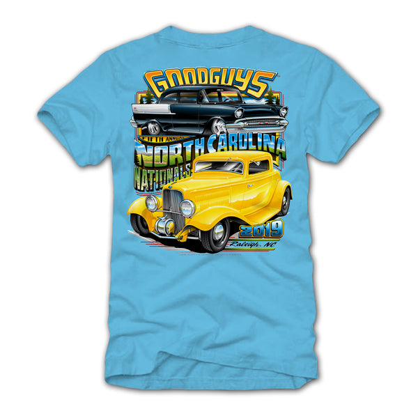 2019 NORTH CAROLINA NATIONALS BLUE EVENT EXCLUSIVE T-SHIRT-Event Exclusives-Shop Goodguys