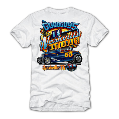 2019 NASHVILLE WHITE EVENT EXCLUSIVE T-SHIRT-Event Exclusives-Shop Goodguys