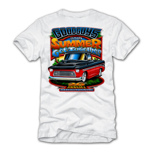 2019 Goodguys Summer Get-Together White Event Exclusive T-Shirt - Back