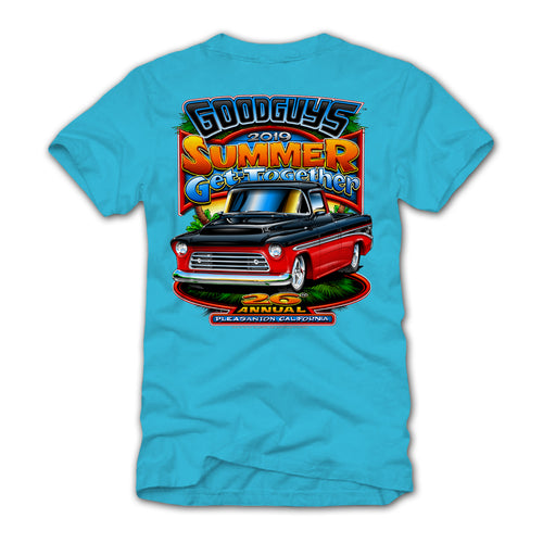 2019 Goodguys Summer Get-Together Blue Event Exclusive T-Shirt - Back