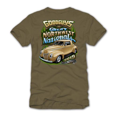 Goodguys 2019 Great Northwest Nationals Tan Event Exclusive T-Shirt - Back
