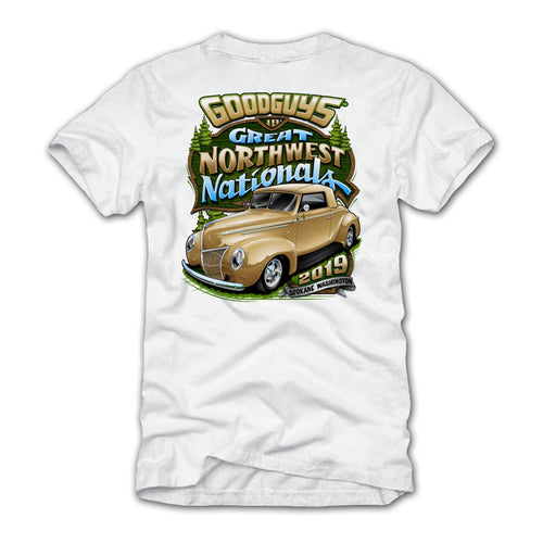 Goodguys 2019 Great Northwest Nationals White Event Exclusive T-Shirt - Back