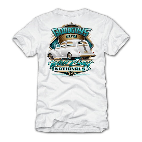 Goodguys 2019 West Coast Nationals White Event Exclusive T-Shirt - Back
