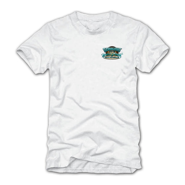 Goodguys 2019 West Coast Nationals White Event Exclusive T-Shirt - Front