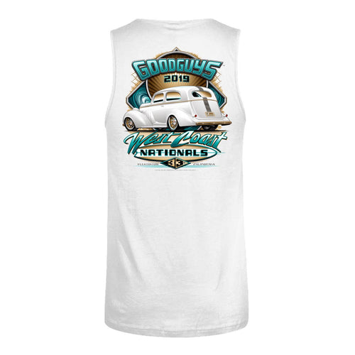 Goodguys 2019 West Coast Nationals White Event Exclusive Tank - Back