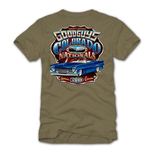 Goodguys 2019 Colorado Nationals Tan Event Exclusive T-Shirt - Back