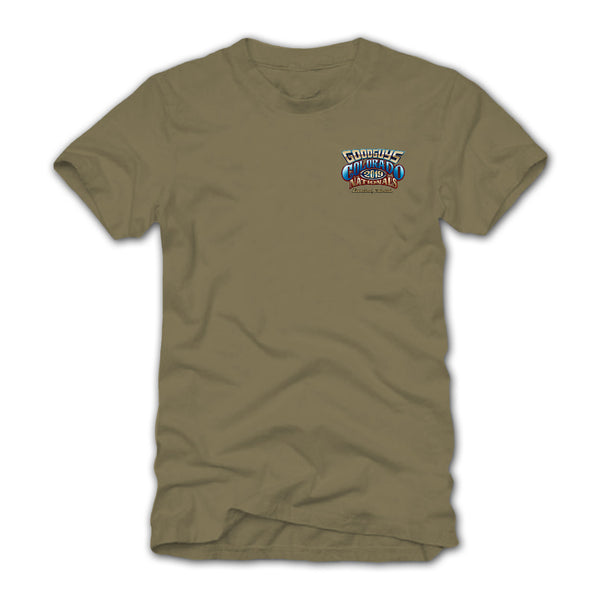 Goodguys 2019 Colorado Nationals Tan Event Exclusive T-Shirt - Front