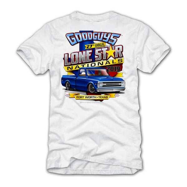 Goodguys 2019 Fall Lone Star Nationals White Event Exclusive T-shirt - Back