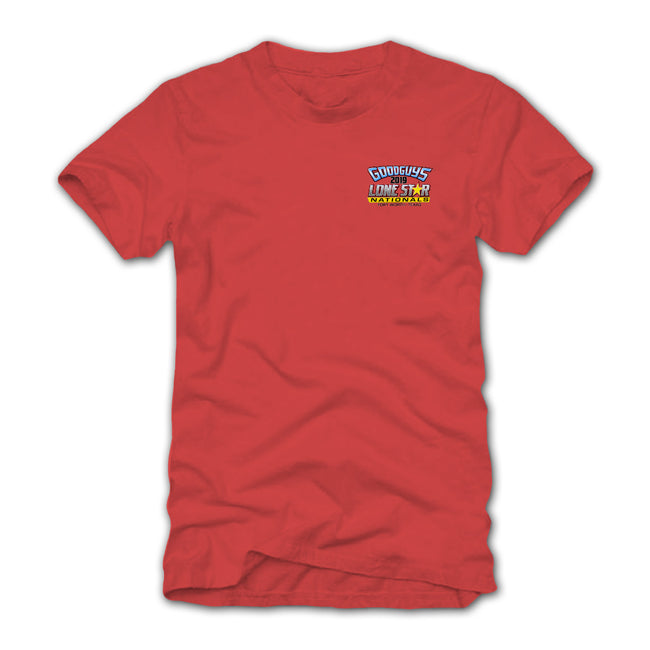 Goodguys 2019 Fall Lone Star Nationals Red Event Exclusive T-shirt - Back