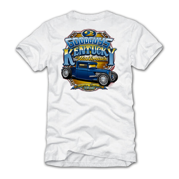 Goodguys 2019 Kentucky Nationals White Event Exclusive T-shirt - Back