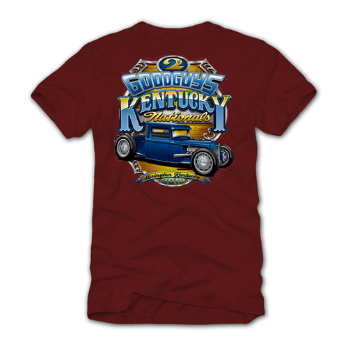 Goodguys 2019 Kentucky Nationals Garnet Event Exclusive T-shirt - Back