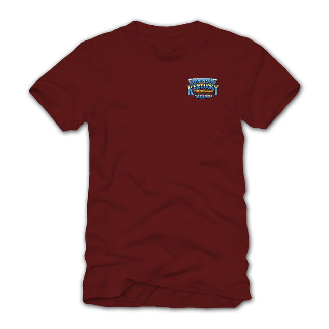 Goodguys 2019 Kentucky Nationals Garnet Event Exclusive T-shirt - Front