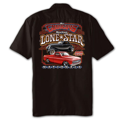 2018 spring lone star nationals fort worth men's garage shirt - front