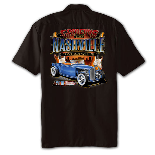 2018 nashville nationals men's garage shirt - front