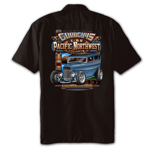2018 pacific northwest nationals puyallup men's garage shirt - front