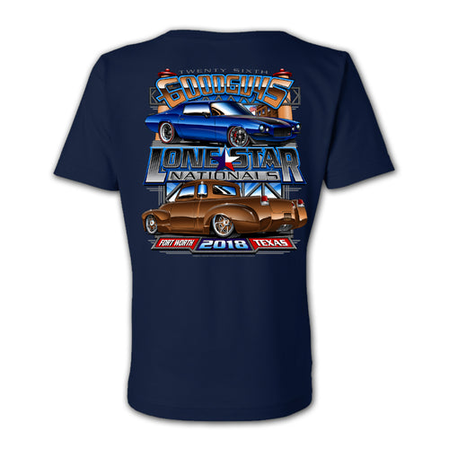 goodguys fall 2018 lone star nationals fort worth women's v-neck t-shirt - front