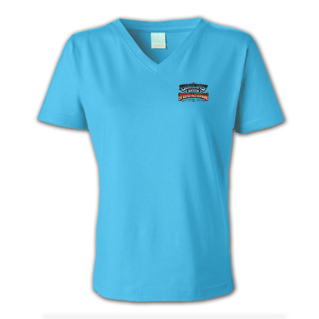 2018 spring nationals scottsdale women's v-neck T-shirt - back