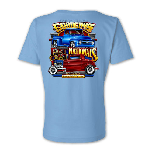 East Coast Nationals 2018 Light Blue Event Exclusive T-Shirt Goodguys