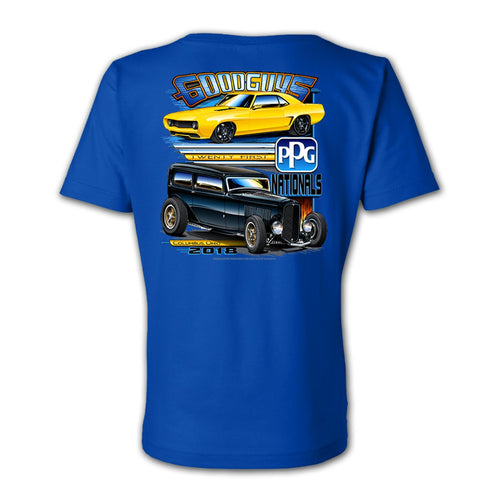 21st PPG Nationals Women's Blue Event Exclusive T-Shirt Goodguys