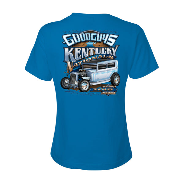 goodguys fall 2018 kentucky nationals lexington women's t-shirt - front
